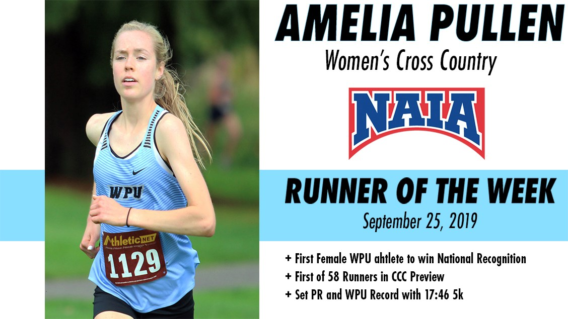 WPU's Amelia Pullen Selected NAIA Runner Of The Week